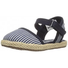 OshKosh B'Gosh Shiloh Girl's Espadrille Sandal, Navy, 8 M US Toddler