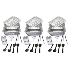 Party Essentials UPK-33, 33 piece Party Serving Kit Includes Chafing Kits and Serving Utensils for all types of parties and events including Birthd...