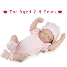 """Reborn Newborn Baby Realike Doll Handmade Lifelike Silicone Vinyl Weighted Alive Doll for Toddler Gifts 10"""""""