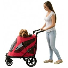 Pet Gear No-Zip Excursion, with push Button Entry for Single or Multiple Pets, Candy Red