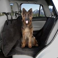 Pet Seat Cover Car Protector- Bench Hammock Backseat Liner, Quilted Waterproof All Weather Non-Slip Backing for Car/Truck/SUV (X-Large) by PETMAKER