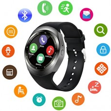 Bluetooth Smart Watch for Men Women Girls Kids Boys Round Face Unlocked Cell Phone Watch with SIM Card Slot Smartwatch for Samsung LG HTC SONY Goog...