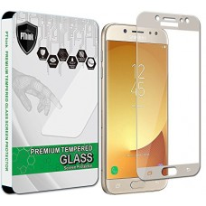 PThink [Full Screen Coverage] Tempered Glass Screen Protector for Samsung Galaxy J7 Pro / J730G (NOT for J7 Sky Pro) (Gold)