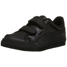 PUMA Court Point V Kids Sneaker (Infant/Toddler/Little Kid) , Black/Black/Dark Shadow, 5 M US Toddler