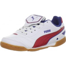 Puma Esito Finale IT JR Soccer Cleat (Little Kid/Big Kid),White/Ribbon Red/Limoges,3 M US Little Kid