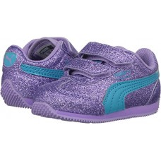 PUMA Girls' Whirlwind Glitz V Kids Sneaker, Purple Rose-Blue Atoll, 9 M US Toddler