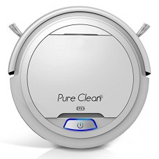 PureClean Automatic Robot Vacuum Cleaner - Robotic Auto Home Cleaning for Clean Carpet Hardwood Floor - Bot Self Detects Stairs - HEPA Filter Pet H...