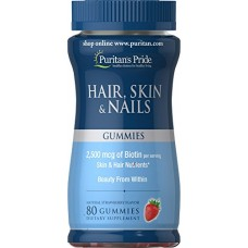 Puritan's Pride Hair/Skin and Nail Gummies, 80 Count