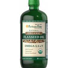 Puritan's Pride Organic Flaxseed Oil-16 fl oz Liquid