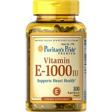 Puritan's Pride Vitamin E 1000 IU Soft Gels,100 count