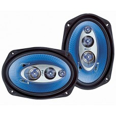 "6"" x 9"" Car Sound Speaker (Pair) - Upgraded Blue Poly Injection Cone 4-Way 400 Watts w/ Non-fatiguing Butyl Rubber Surround 50 - 20Khz Frequency Re..."