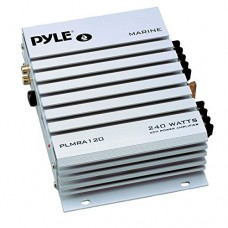 Pyle Hydra Marine Amplifier - Upgraded Elite Series 240 Watt 4 Channel Audio Amplifier - Waterproof, 4-8 Ohm Impendance, GAIN Level Controls, RCA S...