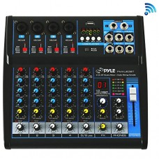 Pyle Professional Audio Mixer Sound Board Console - Desk System Interface with 6 Channel, USB, Bluetooth, Digital MP3 Computer Input, 48V Phantom P...