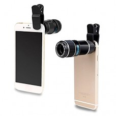 Upgraded Design Professional Cellphone Camera Lens, Universal 12X Telephoto Lens, Clip-on Phone Camera Lens, Camera Attachment for iPhone 8, iPhone...