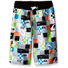 Quiksilver Big Boys Squared Swim Boardshort, Black, Large