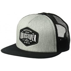 Quiksilver Men's Brain Gainer Trucker Hat, Medium Grey Heather, One Size