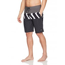Quiksilver Men's Zigzag Blocked Beachshort 20 Boardshort Swim Trunk, Iron Gate, 32
