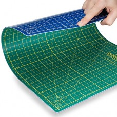"""Quilting Bee® 12""""x18"""" 2-in-1 (Green/Blue) Self-Healing Cutting Mat for quilting, crafts and scrapbooking. Use with rotary cutters, x-acto knives an..."""