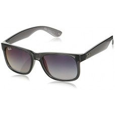 Ray-Ban - RB4165 (Justin) - Transparent Grey Frame-Grey Gradient Mirror Red Lenses 51mm