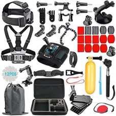 RayHom Outdoor Sports Camera Accessory Kit for GoPro Hero 5/4/3+/3/2/1 Black Silver SJ4000 SJ5000 SJ6000, Accessories for Action Video Cameras Xiao...