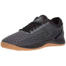 Reebok Men's Crossfit Nano 8.0 Flexweave Cross Trainer, Black/Alloy/Gum, 9.5 M US