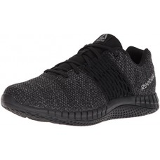 Reebok Men's Print Ultraknit Running Shoe, Black/Coal/Asteroid Dust, 11 M US