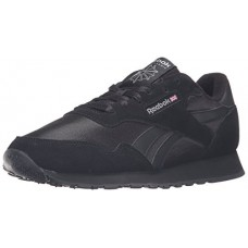 Reebok Men's Royal Nylon Walking Shoe, Us-Black/Black/Carbon, 9 M US