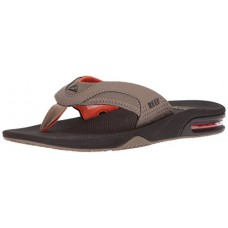 Reef Men's Fanning Sandal, Brown/Orange, 4 M US