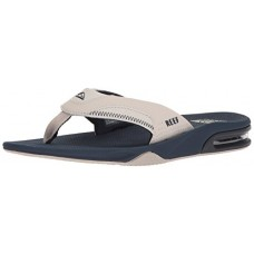 Reef Men's Fanning Sandal, Navy/Grey, 9 M US