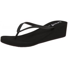Reef Women's Krystal Star Sandal, Black/Black, 8 M US