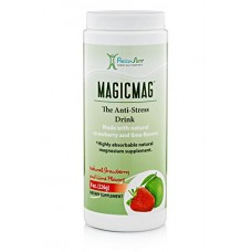 RelaxSlim Anti Stress Drink - Pure Magnesium Citrate Powder with Organic Strawberry, Lime and Stevia For Great Flavor - Natural Aid to a Slow Metab...