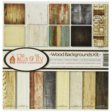 Reminisce EAV-800 Wood Backgrounds Collection Kit