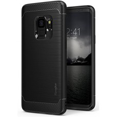 Galaxy S9 Case, Ringke [Onyx] Brushed Metal Design [Flexible & Slim] Dynamic Stroked Line Pattern Durable Anti Slip Impact Shock Absorbent Case for...