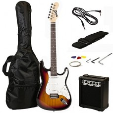 RockJam RJEG02-SK-SB Electric Guitar Pack, Sunburst