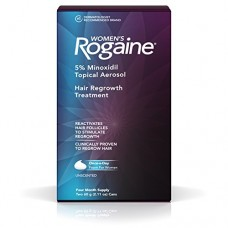 Women's Rogaine Treatment for Hair Loss and Hair Thinning Once-A-Day Minoxidil Foam, Four Month Supply