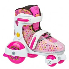 Roller Derby Girl's Fun Roll Adjustable Roller Skate, Small (7-11)