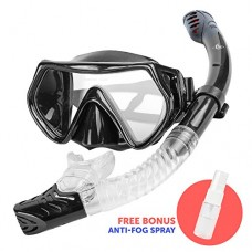 Diving Mask and Snorkel Set - Premium Scuba Gear for Adults - With Specially Designed Tube & Tempered Glass + Free Anti-Fog Spray - No Leaking, No ...