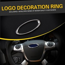 Ryvox(TM) 2014 Real Car Covers Steering Wheel Paillette Decoration Box Ring Case for Ford Focus 2 3 Fiesta Mondeo Ecosport Escape