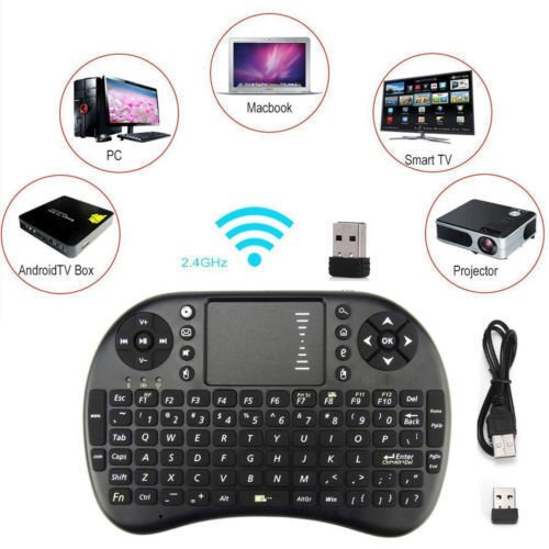 Streaming Player MXQ Pro HDTV Box UHD 4K Android 6.0 64 Bit Amlogic S905X Quad Core with Mini Wireless Keyboard 2018 Version