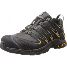 Salomon Men's XA Pro 3D CS Waterproof Trail Running Shoe,Autobahn/Black/Yellow Gold,9 M US
