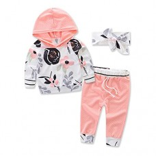 samgani baby Girls Boy Cotton Ink Printing Dot Long Pants Suit Kids Leisure Time Clothes Motion Clothing Set Size 6M-3Y (Tag:70/0-6M)