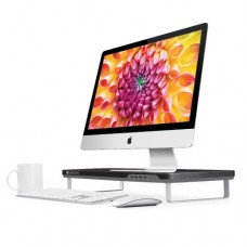 Satechi F3 Smart Monitor Stand with 4 USB 3.0 Ports and Headphone / Microphone Extension Ports for 21.5-Inch iMac, MacBook Pro, MacBook, Dell, PC, ...