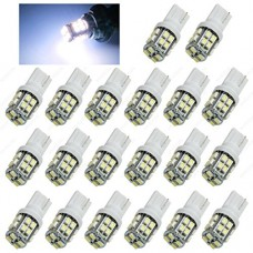 SAWE - T10 20SMD 3528 Ligths Bulbs 194 168 W5W LED Side Wedge Interior Car Light (20 pieces) (White)