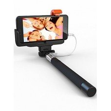 Premium 5-In-1 Wired Selfie Stick For iPhone 5, 6, Samsung Galaxy - Takes Selfies In Seconds, Get Perfect HD Photos, Video, Operates Flash - No App...