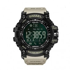 Newest Design Sports Style Bluetooth Smart Watch for IOS iPhone Android Samsung HTC Sony LG Smartphones Khaki