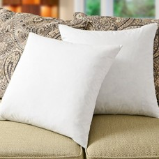 "Simple Comfort Premium 95% Feather/5% Down Pillow Insert, Sham Stuffer (16"" x 16"" - 2 Pack)"