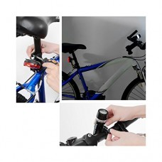 Simply Silver - Insten 5 LED Lamp Bike Bicycle Front Head Light + Rear Safety Flashlight