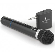 Microphone Wireless Singing Machine SMM-107 Uni-Directional Dynamic - Black (Certified Refurbished)