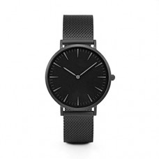 Clearance! Lovers' Fashion Mesh Strap Watch, SINMA Simple Alloy Bracelet Analog Quatz Wrist Watches (Black)