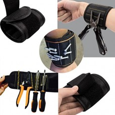 Sinwo 5 Magnetic Wristband Pocket Tool Belt Pouch Bag Screws Holding Working Helper Working Tool (Black)